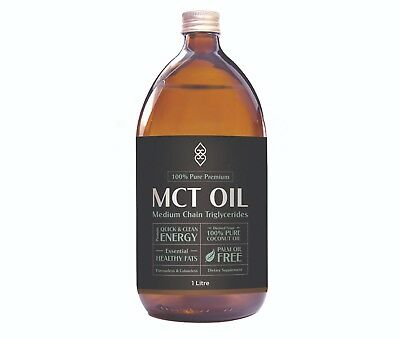 1000ml Pure MCT Oil with C:8 and C:10 Coconut Magic Vegan non GMO