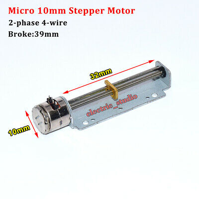 DC 5V 2-Phase 4-Wire Micro Mini 10mm Stepper Motor Linear Screw Shaft Slider Nut