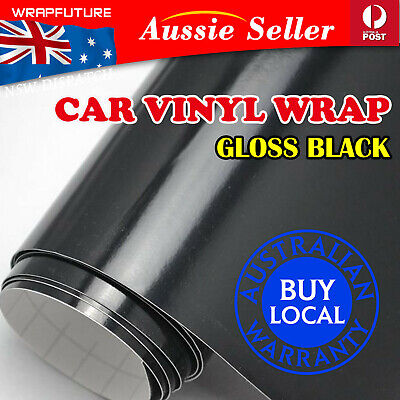 Bubble Release Gloss Black Vinyl Film Wrap 1.51Mx30CM Car Exterior Sticker Sheet