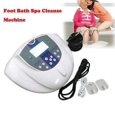 Dual Ion Ionic Cell Aqua Foot Bath SPA LCD Detox Cleanse Device+Infrared Belt S+