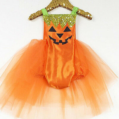 USA Newborn Baby Girls Halloween Costume Romper Tutu Dress Party Clothes Outfits