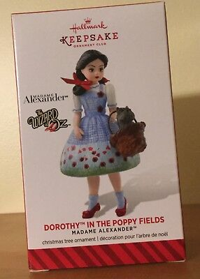 Hallmark 2014 member exclusive Dorothy in Poppy Fields , Madame Alexander new in