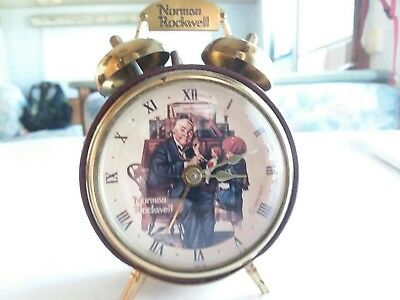 Norman Rockwell Classic Movements Collection Collectible Alarm Clock Made In...