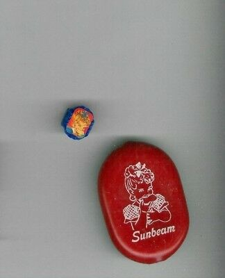 2 Vintage Sunbeam Bread Premiums Rubber/vinyl Change Purse+Plastic Flicker Ring
