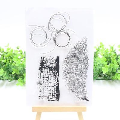 1 x 11*16cm Transparent Clear Rubber Stamp Diary Scrapbooking Decor DIY Craft w/