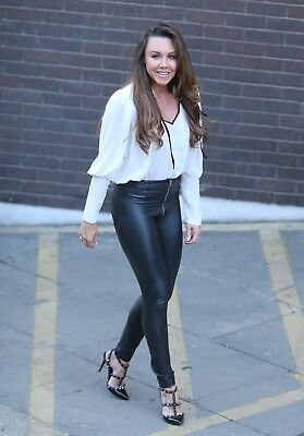 Michelle Heaton glossy photo 12 to choose from white jeans leather trousers