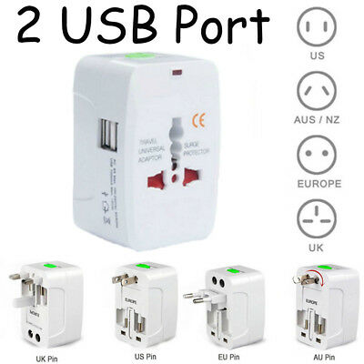 Universal Travel Charger World Wide Adapter USB Charger Converter US EU AC AU UK