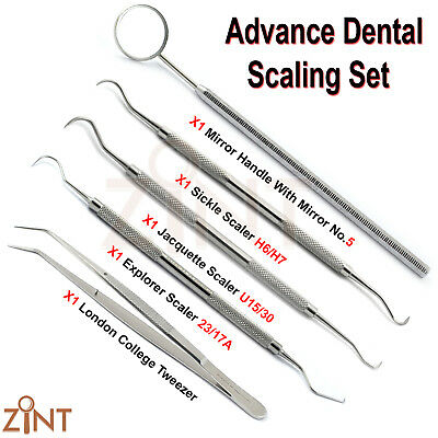 Premium Advance Dental Scaling Set Sickle H6/h7 Tartar Scraper Examination Tools