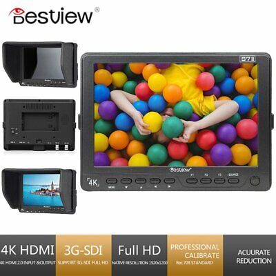 "BESTVIEW S7II 7"" IPS 4K Camera HDMI Full HD Video Field Monitor LCD 3G-SDI DSLR"