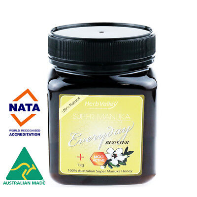 Certified MGO 60+ equiv UMF 5+ 1kg - Herb Valley Australian Manuka Honey
