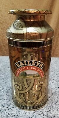 Baileys Original Irish Cream Liqueur Collectible Milk Tin Container 1992!