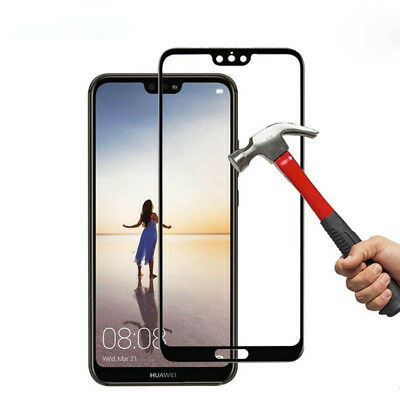 Full Cover Premium Tempered Glass Film Screen Protector For Huawei P20 Pro Lite