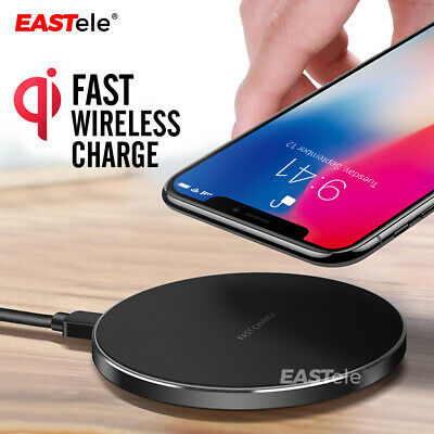Qi Wireless Charger FAST Charging Pad For iPhone 11 XS XR 8 Samsung S10 S20 5G
