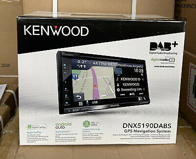 Kenwood DNX-5170BTS Double Din Car GPS Sat Nav Screen Stereo DVD Carplay EXDEMO