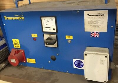 Transwave Phase Converter Converts 240 volt single phase to 415 volt 3 phase to