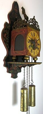 Vintage Dutch Folk Art CucKoo Clock very decorative!!!!!!!!!J.W.A WUBA!!!!!!!!!!