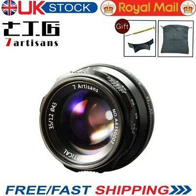 UK 7artisans 35mm F1.2 Manual Lens For Fuji FX Mount X-A1 X-AT X-M1 XM2 X-Pro1