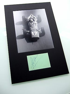 John Surtees Genuine Hand Signed Autograph Monaco 1966 Photo Mounted Coa Ferrari