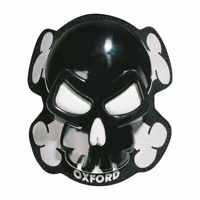 Oxford Skull Motorcycle Motorbike Knee Sliders Black