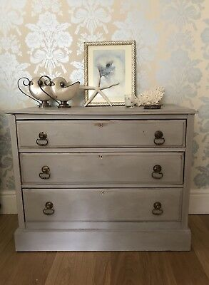 Painted Edwardian Chest Of Drawers Annie Sloan Paris Grey