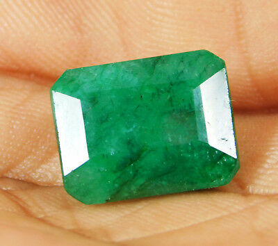 Natural 9.25 Cts. Beautiful  Emerald Cut Colombian Loose Emerald Gems. GS10879