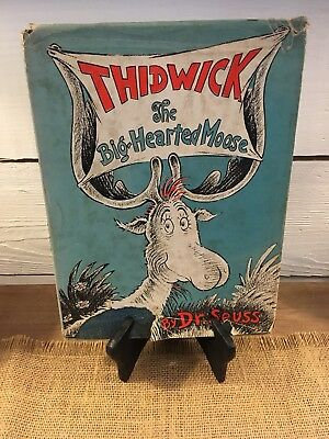 Thidwick The Big-Hearted Moose by Dr. Seuss 1948 Hardcover w/ DJ 200/200