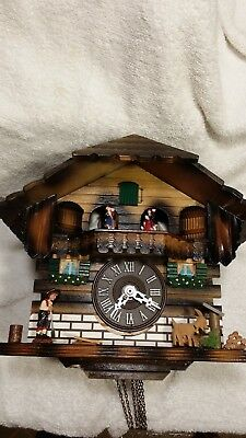 Black Forest Cuckoo clock, 1 day Chalet style, Musical, Working.