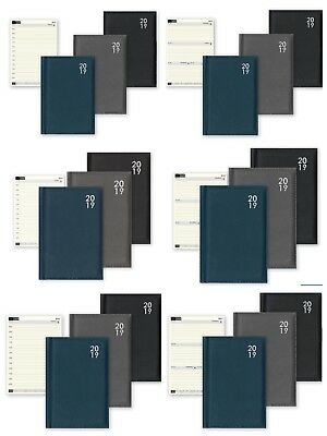 2019 A4/A5/A6/A7 Diary Day to Page or Week to View Desk Diary Soft Padded Diary