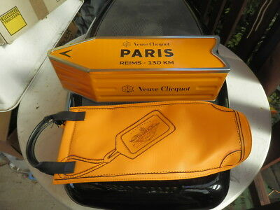 Veuve Clicquot Arrow Tin Paris Reims Champagne Journey Street Sign + cooler bag