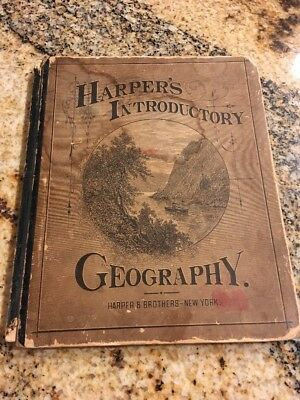 1878 Harper's Introductory Geography Maps and Illustrations