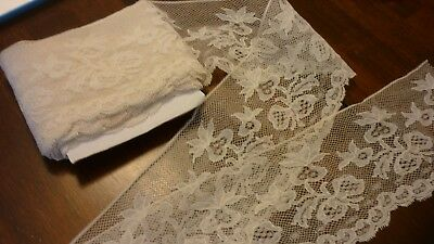 """5 Yards Antique French Alencon Bobbin Lace 3.5"""" wide  Perfect Cond. Ribbons Bows"""