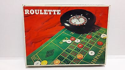 Vintage Roulette Game Made In Taiwan Casino Action Table Is 15X11 Inches W/ Ball