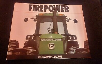 JOHN DEERE Brochure Catalog NEW FIREPOWER All New 105-200hp Tractors DKA1 88-12