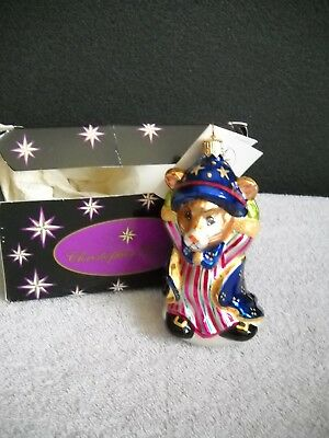 Christopher Radko Mouse Magic Blown Glass Christmas Ornament with Tags