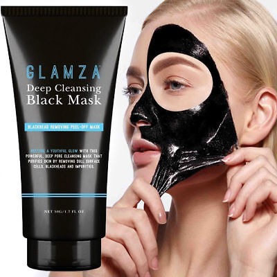 Glamza Charcoal Blackhead Remover Peel Off Facial Cleaning Black Face Mask 50gm
