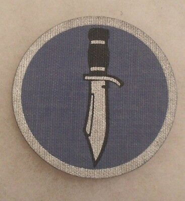 Original Mint Wwii Kiska Task Force Theater Made Printed Oil Cloth Patch Unused