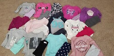 Lot 26 pc GIRLS CLOTHES SZ 4T/4 shirts pants OUTFITS guc Cat Jack Carters +
