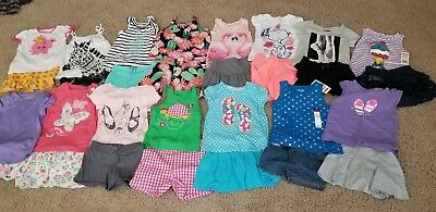 Lot 30 pc GIRLS CLOTHES SZ 4T/4 shirts skirts shorts OUTFITS euc