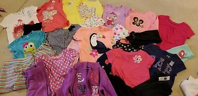 Lot 26 pc GIRLS CLOTHES SZ 4T/4 shirts pants OUTFITS guc Gap Carters +