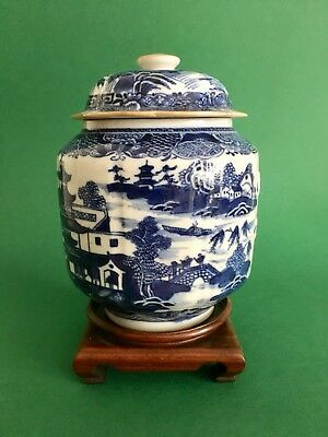 Chinese 18th Century Blue And White Porcelain Pot