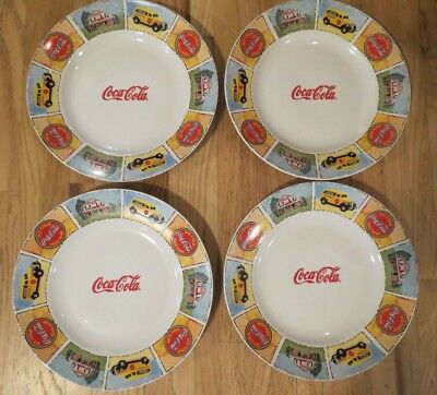 """Set of 4 Coca Cola 11 1/2"""" Dinner Plates Plates by Gibson - Good 'Ole Days"""