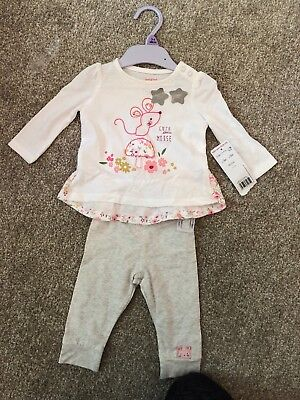790cba2b737736 Tesco Baby Girl 4 Piece Outfit Size 3-6 Months Top Bottoms Jacket & Vest