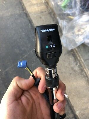 Welch Allyn 3.5V Halogen HPX Co-Axial Opthalmoscope Head 11720 W Cable Handle