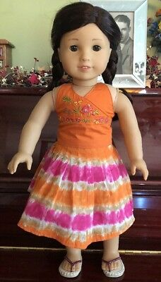 American Girl Doll of the Year 2006 Jess In Meet Outfit With Underwear EUC