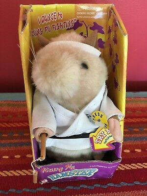 Dancing Singing Hamster Gemmy Kung Fu Fighting Martial Arts Karate MINT NIB!!