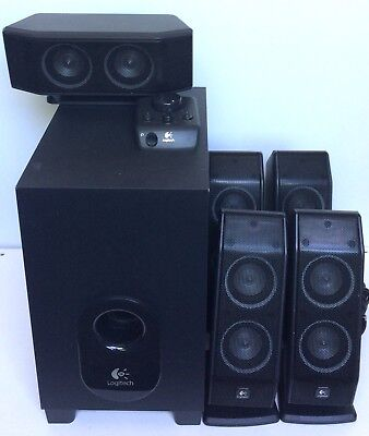 Logitech X-540 5.1 6 Piece Computer Speaker Set Complete Tested