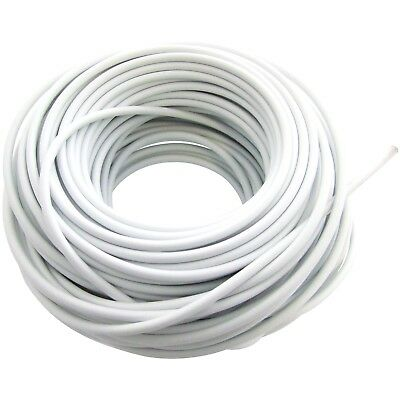 30m 100ft White Window Net Flexible Plastic Wire Cord Curtain Wire Cable