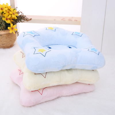 Baby Infant Newborn Fleece Pillow Positioner Prevent Flat Head Anti Roll Cushion