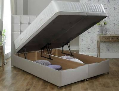 Divan Ottoman End Lift Storage Bed Single 4'6 Double 5ft King Size AMAZING