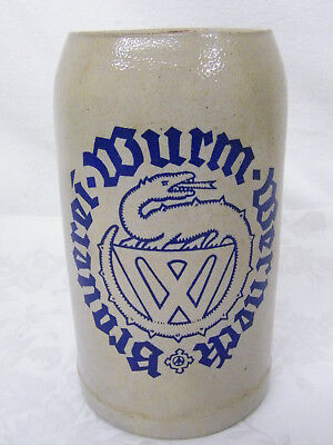 Vintage German 1L Beer Mug